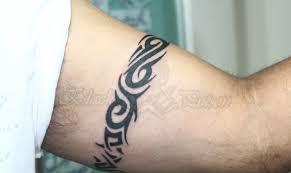 black tribal armband design for bicep black armband