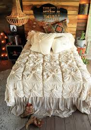 the lazybone jersey comforter cream rosettes bedrooms and room