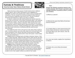 7th grade comprehension worksheets free worksheets library