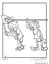 olympic plants zombies coloring pages printable