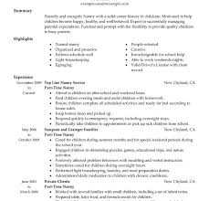 download nanny resume samples haadyaooverbayresort com