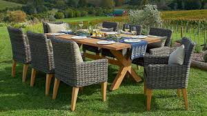 Outdoor Wicker Dining Chair Grey Patio Dining Chairs Photogiraffe Me