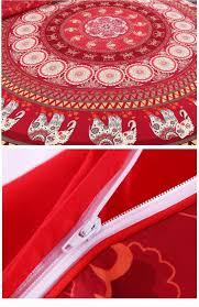 beddingoutlet red mandala bedding set home elephant messenger