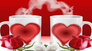 roses and hearts cup of coffee or two hearts roses wallpapers13