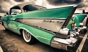 2011 all american car show bel air chevy and dark cloud