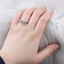 womens ring size women square white topaz finger silver ring size 8 wed j7768