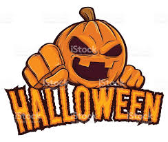 halloween jack lantern pumpkin character background stock vector
