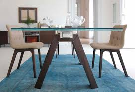 Glass Rectangular Dining Table Contemporary Table Glass Rectangular Extending Aron