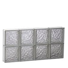 shop redi2set pattern frameless replacement glass block window