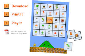 printable mario games images reverse