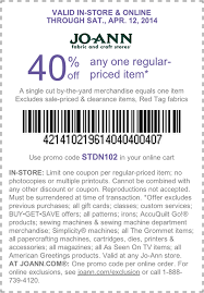 joanns coupon app pinned april 11th 40 a single item at jo fabric or