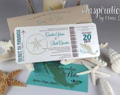 Wedding Invitations Packages Items Similar To Boarding Pass Wedding Invitation Package With