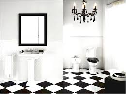 Black And White Bathroom Decorating Ideas Black And White Tiles Serene Tile Along With Black Also Classic