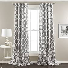 95 Inch Curtain Panels Lush Decor 16t000103 Edward Trellis Room Darkening