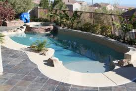 wonderful small pool designs shaped in irrgeluar and enhanced with