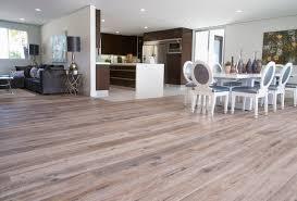 open floor plan with smoked oak flooring in woodland