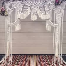 Curtain Designs For Arches This Large Handmade Macrame Design Is Perfect For A Wedding