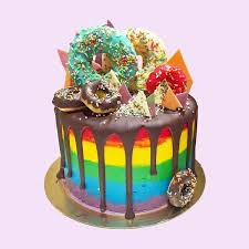 gaga rainbow cake anges sucre