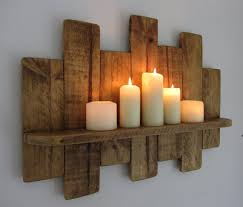Diy Reclaimed Wood Floating Shelf by 66cm Reclaimed Pallet Wood Floating Shelf Candle Holder Shabby