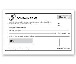 bill book design for cash voucher offset or digital printing
