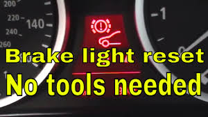 bmw pad how to reset brake pad light on bmw