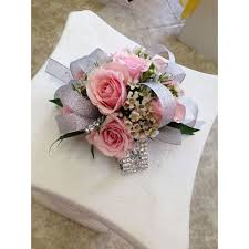 pink corsage light pink silver wrist corsage mebane nc florist gallery