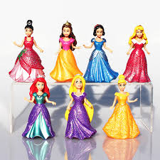 14pcs set detachable dolls 8cm snow white princess cinderella