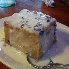 white chocolate blueberry bread pudding sammy u0027s grill view