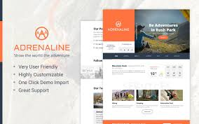 adrenaline wordpress theme for adrenaline sports businesses