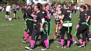 Breast Cancer Flags Monmouth Flag Football Battle For Breast Cancer Youtube