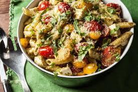 classic pesto pasta salad recipe chowhound