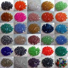 Pick Color by 500pcs 4 6mm Faceted Bicone Crystal Glass Loose Beads U Pick Color