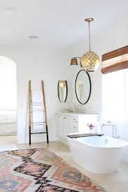 Rug In Bathroom Modern Bohemian Master Bath Retreat