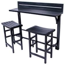 miyu furniture 3 piece balcony bar contemporary outdoor pub