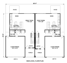 Duplex Floor Plans 3 Bedroom by Traditional Style House Plan 3 Beds 2 50 Baths 3286 Sq Ft Plan