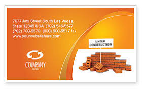 Business Card For Construction Company Under Construction Business Card Template Layout Download Under