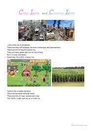 12 free esl city life worksheets