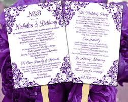 Diy Wedding Ceremony Program Fans Diy Wedding Program Fan Template Fun Ceremony Program