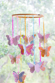 diy watercolor butterfly mobile butterfly mobile watercolor and