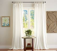 Curtains With Tabs Tie Curtains Curtains Ideas