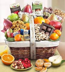 Gift Food Baskets Fruit And Sweets Basket 1 800 Flowers Com