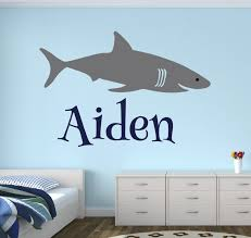 Boys Nursery Wall Decals Lovely Decals World Llc Wall Decor Personalized Name Shark Wall