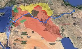 Tehran Map Update Iran Establishes Major Land Route From Tehran To Lebanon U0027s