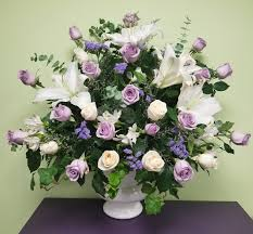 funeral arrangement lavender and white funeral arrangement in philadelphia pa