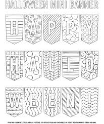 banner coloring pages halloween banner coloring page crayola com