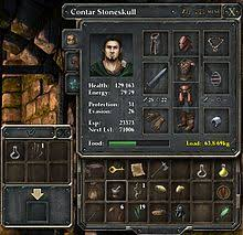 player character wikipedia