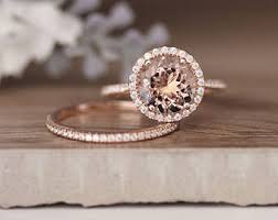 gold and morganite ring morganite ring etsy