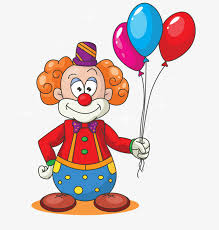 clown balloon l clown vector material holding balloons beam clown holding a bunch