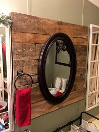 Wood Bathroom Mirror by Diy Pallet Bathroom Projects You Should Try