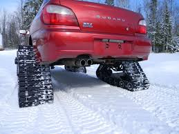Nissan Rogue In Snow - awd cars rubber track system